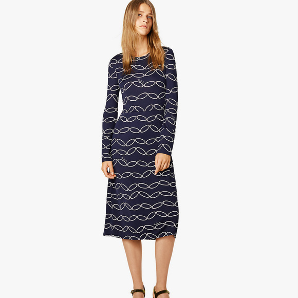 1b830bbe Tory Burch Dresses | Nwt Giovanna Navy Elliptical Link Dress | Poshmark